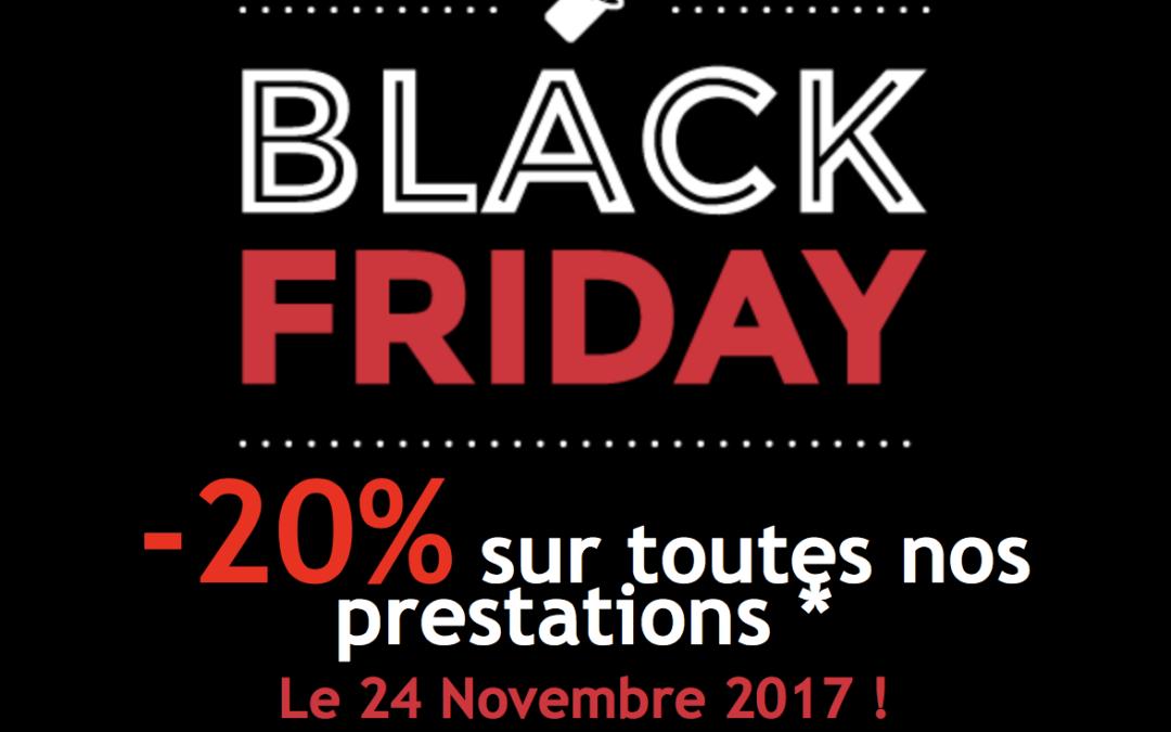 Black Friday : Profitez de 20% sur toutes nos prestations
